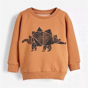 Image 5 - Salto metri Vestiti Per Bambino Set Autunno Inverno Ragazzo Set Vestiti di Sport Per I Ragazzi della Camicia del Maglione Pantaloni 2 Pezzi Set di Bambini