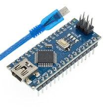 Livraison gratuite 100 pièces Nano 3.0 contrôleur compatible nano CH340 USB pilote pas de câble NANO V3.0