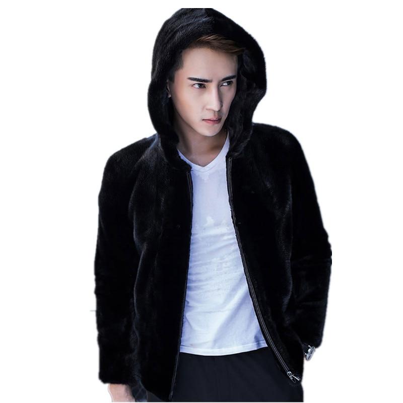 Real Fur Coat Men's Winter Jacket Natural Mink Fur Coats Luxury Warm Mens Jackets And Coats Plus Size 4xl Chaqueta Hombre MY1880