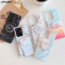 Marble Phone Holder Case For Samsung Galaxy S20 Ultra S10 S9 S8 Note 10 Plus A51