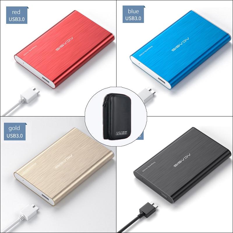 Внешний жесткий диск ACASIS 2,5 дюйма, USB 3,0, цветной металлический портативный диск 80-1 ТБ для настольного ПК, ноутбука, сервера, Супер предложени...