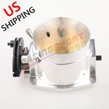 US CNC T6 Aluminum 90mm Throttle Body Performance Part For GM LS LS2 LS3 LS7 LSX 70mm universal throttle body cnc t6 aluminum red 40002