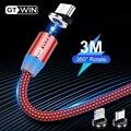 GTWIN 2м 3м Магнитный Micro Type C USB-кабель Адаптер для быстрой зарядки Зарядное устройство Магнитная зарядка для iPhone 11 pro max Xr X 8 7 6 плюс 6 s 5 s плюс iPad ...