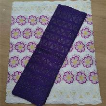2.5 y Swiss lace fabric +2.5 Bazin Brode riche embroidery African 100% cotton fabrics voile popular Dubai style HL5