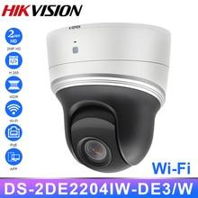 Hikvision Wifi PTZ ip-камера 2,8-12 мм 4X Zoom DS-2DE2204IW-DE3/W PoE HD 2MP H.265 + IR20M WDR BLC HLC Mic Wi-Fi сетевая ip-камера