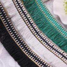 1 yardas/lote seda borde con flecos encaje cinta de adorno de encaje bordado de tela de encaje de ropa bolsa de zapatos borlas para joyería Diy
