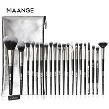 MAANGE Juego de brochas de maquillaje, 5 20 piezas, multifuncionales, para sombra de ojos en polvo, con estuche de PU portátil, herramientas de belleza