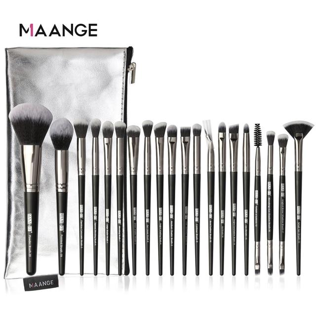 Maangeプロ 5 20 個メイクブラシセット多機能ブラシブラシメイクアップポータブルpuケース美容ツール