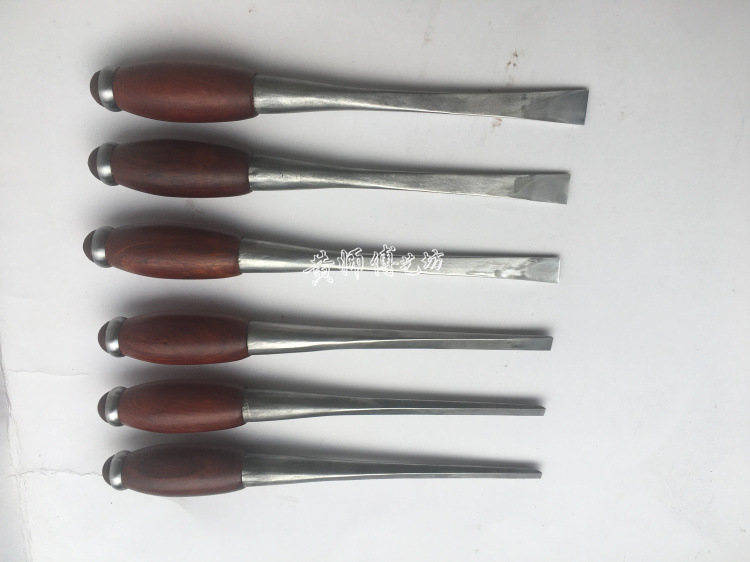 Master Huang Mahogany Woodworking Chisel Plain Top Chisel Wood Chisel Handmade Forged Carbon Steel Chisel Has You Sand