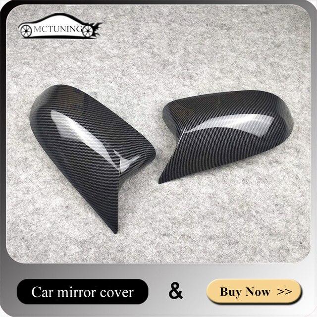 Coppia di accessori per auto coperchio specchietto retrovisore materiale ABS adatto per X3 X4 X5 X6 F25 G01 F26 G02 E70 F15 G05 E71 F16 G06