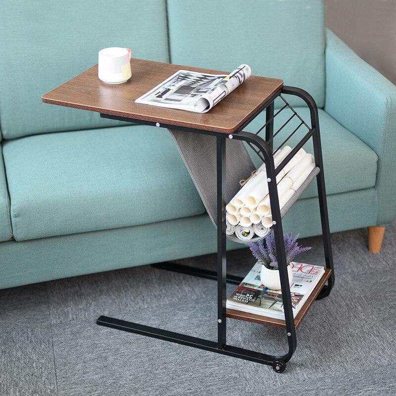 Adjustable Bedside Table Cabinet Mordern Mobile Lift Lazy Laptop Bed Table Stand Notebook Desk On Bed Sofa