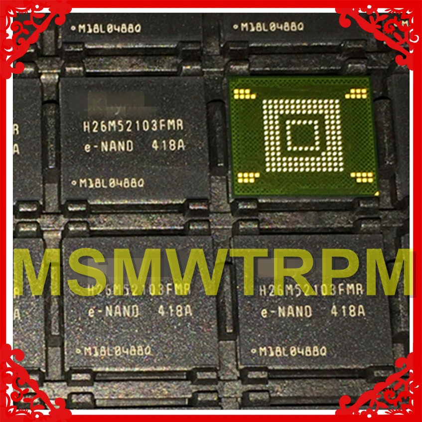 H26M52103FMR BGA153Ball EMMC 16GB Mobilephone Memory New original and Second hand font b Soldered b font