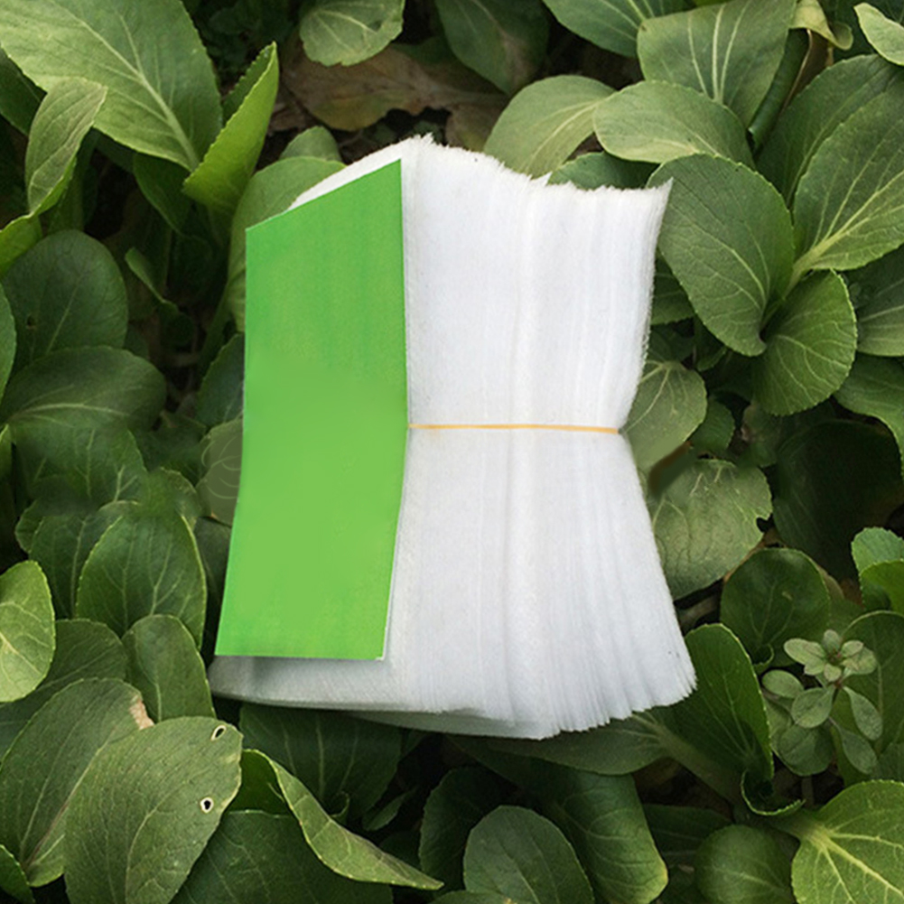 100/200pcs Non-woven Fabric Seedling Bag Safe Degradable Eco Friendly Water Saving Nursery Aeration Ventilate Gardening Organic