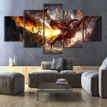 HD Fantsay Art Dragon Picture Game of Thrones GOT Movie Poster Artwork Illlustration Paintings Canvas Art for Room Wall Decor