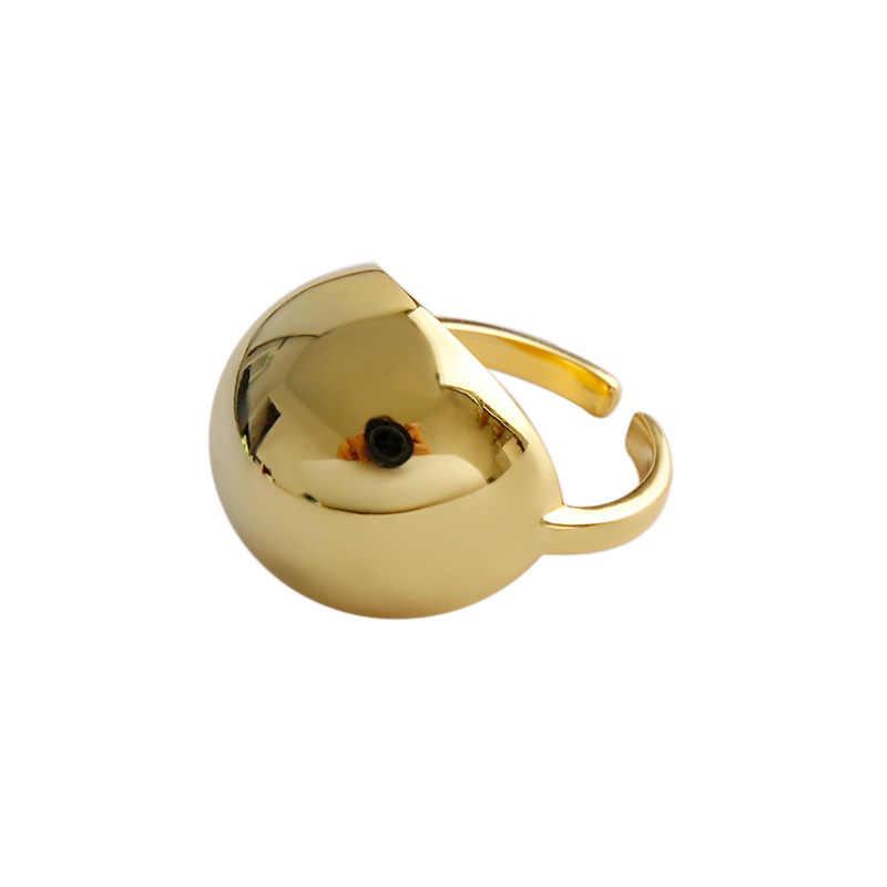 Вечный чудо 925 стерлингового серебра Geo большой шар модное кольцо женские ювелирные изделия панк вечерние коктейльные Cocktail Mujer Kpop на заказ 6321