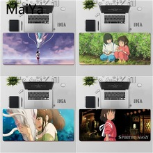 Maiya Top Quality Anime Spirited Away Large Mouse pad PC Computer mat Free Shipping Large Mouse Pad Keyboards Mat