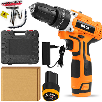 Electric Screwdriver 25+1 Torque Power Tools  2-Speed Cordless Impact drill Drill with lithium battery Electric Impact drill