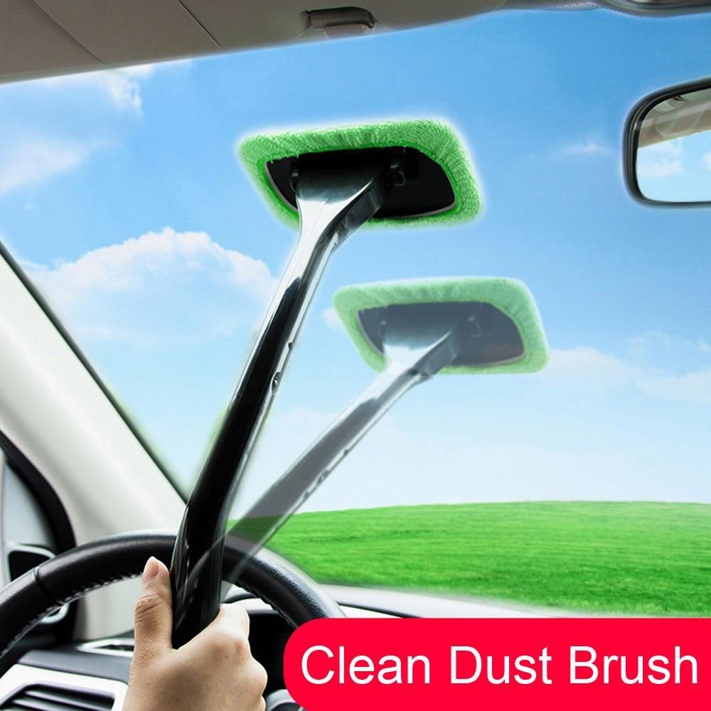 Щетка для мытья автомобиля с длинной ручкой из микрофибры, автомойка, очистка окна автомобиля, тряпка для очистки ветрового стекла, моющийс...