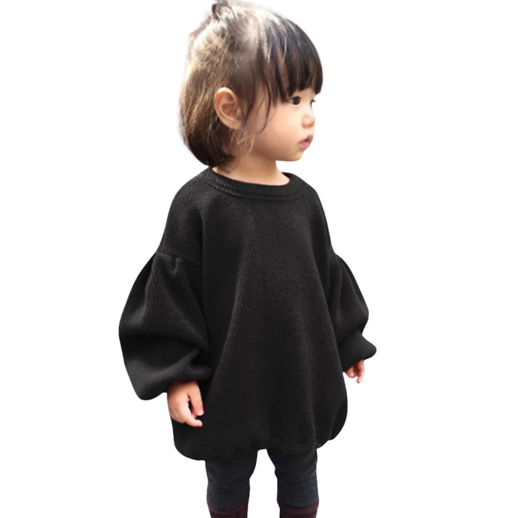 Hoodie Sweatshirt Baby Clothes  Toddler Infant Baby Kids Girls Solid Lantern Sleeve Shirt Tops Outfits Clothes толстовка Tops 2