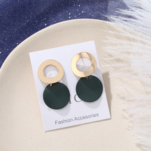 style hollow metal rings irregular geometry disc earrings, 100 sets of clothing accessories wholesale