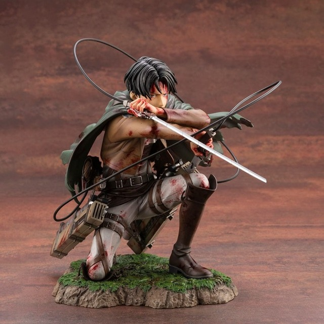 18cm Attack on Titan Figure Rival Ackerman Action Figure Package Ver. Levi PVC Action Figure Rivaille Collection Model Toys
