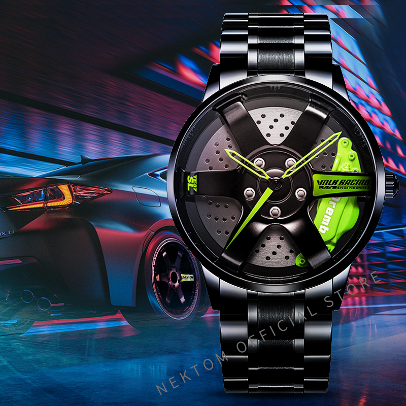 NEKTOM Men Car Wheel Watch Fashion Waterproof Sport Watch Men's Quartz Mesh With Rim Hub Watch Run Quartz Men Quartz Watch|Quartz Watches| - AliExpress