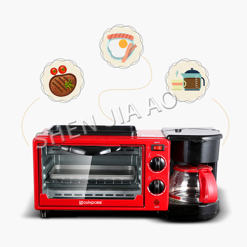 Three-in-one Multi-function Breakfast Machine Coffee Machine Oven-baked Machine One Machine High-power Breakfast Machine
