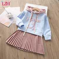 Vestido de princesa de manga larga para niña, traje de fiesta para niña de 3, 4, 5, 6 y 7 años, Otoño, 2020