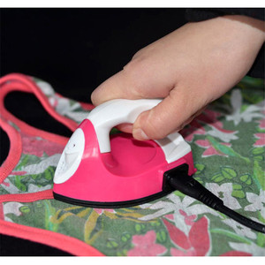 Mini Electric Iron Portable Travel Crafting DIY Craft Hot Fix Clothes Sewing Supplies Ceramic Heating Material For College life