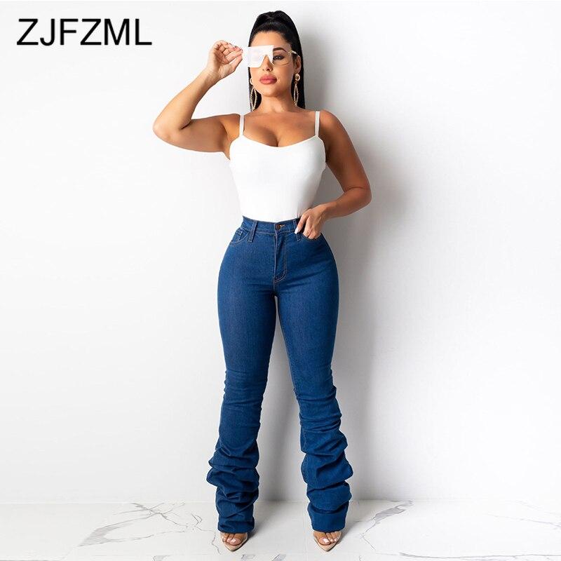 High Waist Causal Blue Skinny   Jeans   Woman Vintage Blue Distressed Denim   Jeans   Autumn 2019 Streetwear Push Up Plus Size   Jeans