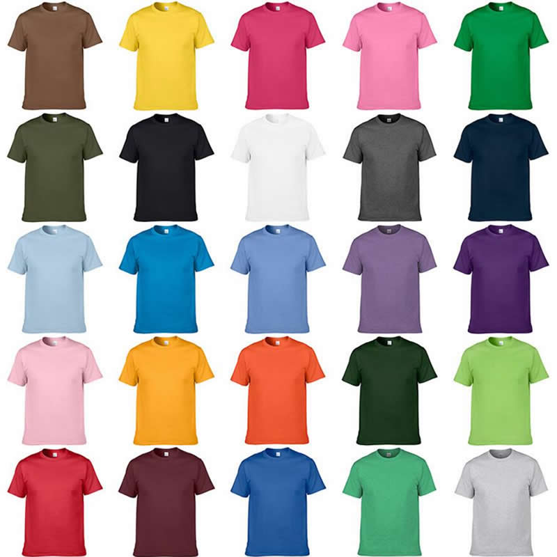 GILDAN Solid Color Cotton T Shirts Men Clothing Male Slim Fit T Shirt Man T-shirts Casual Brand T-Shirt Mens Tops Tees Euro Size