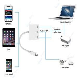 Image 4 - 3 in 1 Caricatore Audio Adattatore Per Cuffie Per iPhone X 8 Più di 7 6 Adattatore Del Telefono Cellulare Con 3.5mm jack Audio Splitter Adapter