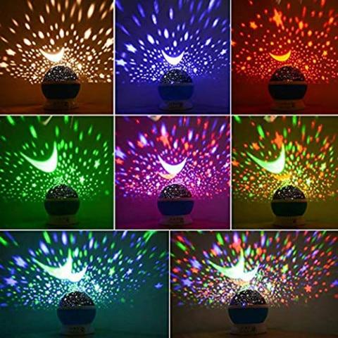 lampada de projecao luz led criancas