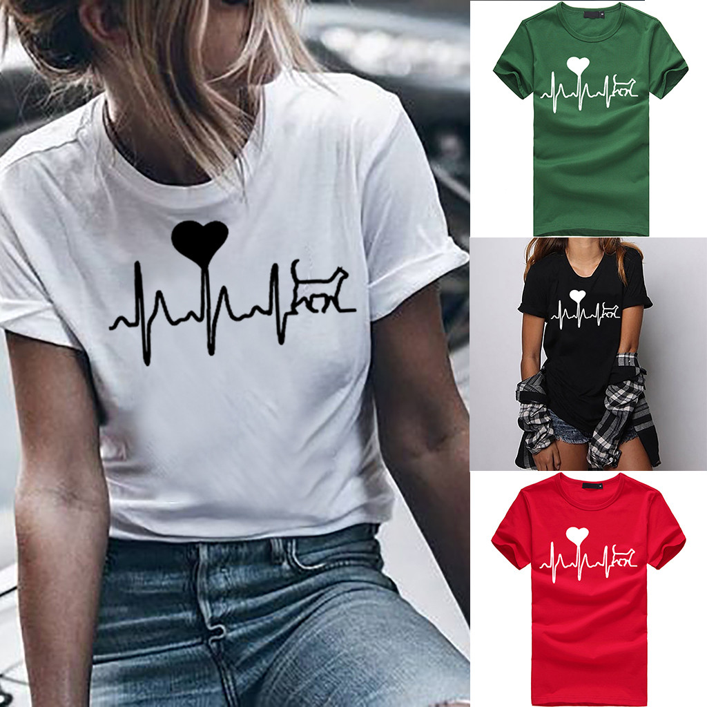 Women T-shirts Casual Harajuku Love Printed Tops Tee Summer Female T shirt Short Sleeve T shirt For Women Clothing футболка 2020