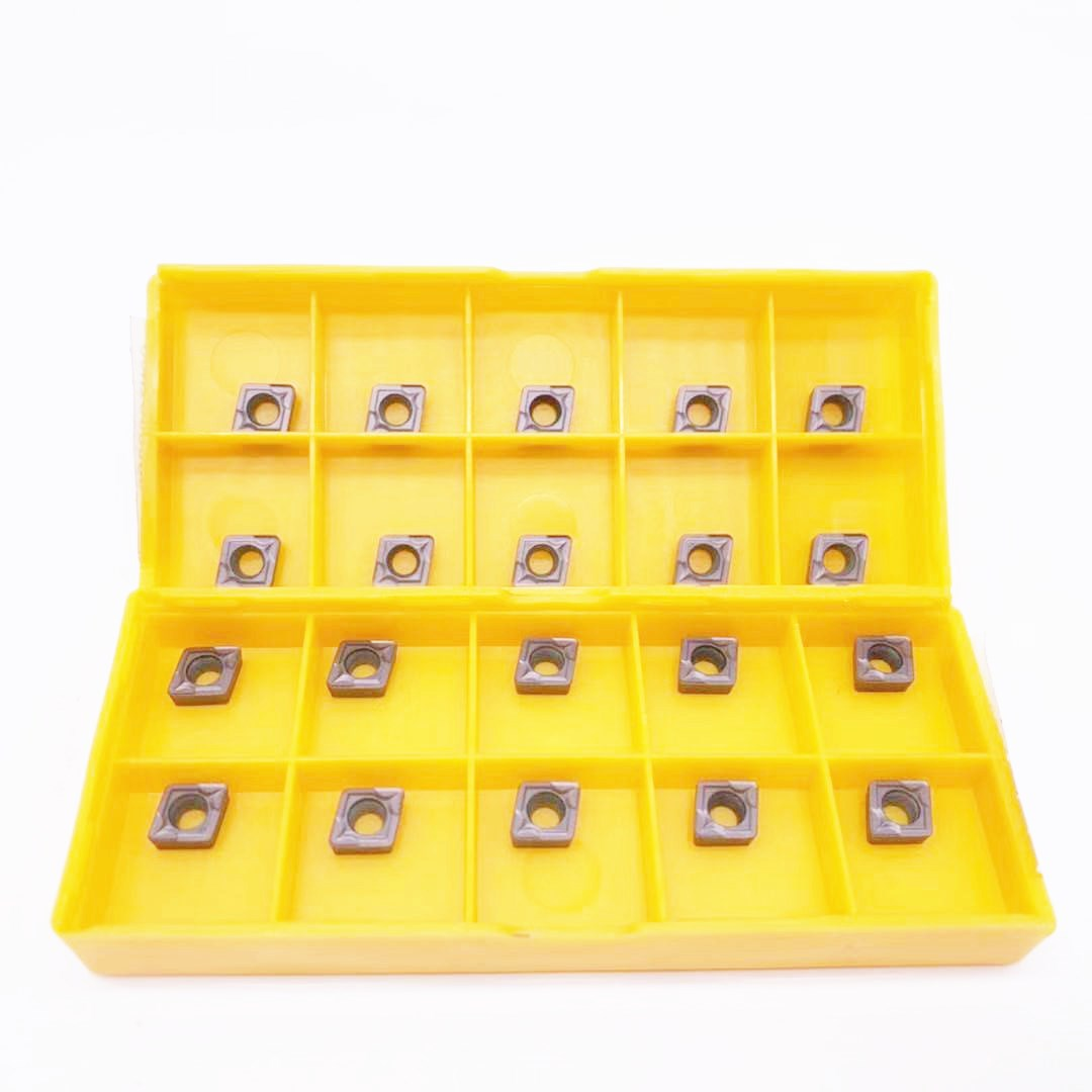 10PCS CCMT060204 VP15TF Carbide Inserts CCMT0602 For Lathe Turning Tool