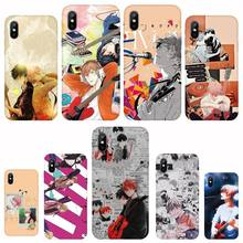 Japan Anime Given Black TPU Soft Phone Case For iph