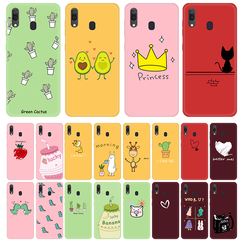 For Samsung A30 A50 A70 A51 A71 Case Cute Animals Fruits Pattern Cover For Samsung Galaxy Note 10 Plus Note10 Pro TPU Case Shell