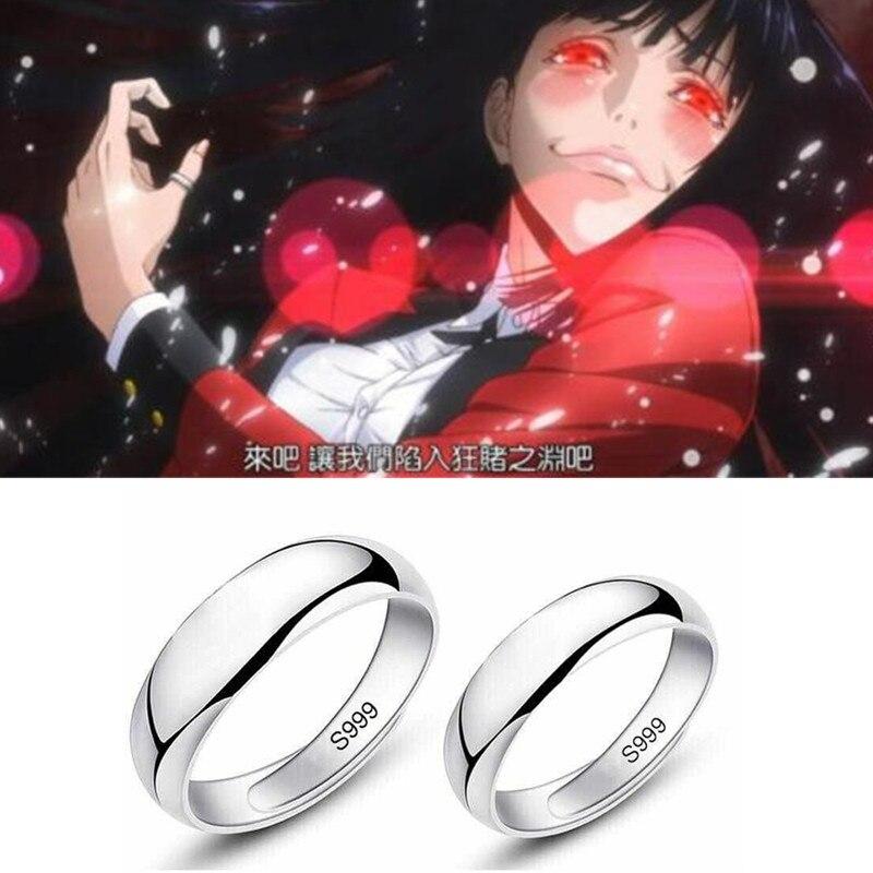 Kakegurui Ring Jabami Yumeko Ring Cosplay Props Glaze Simple Men Women Fancy Gift Lovers