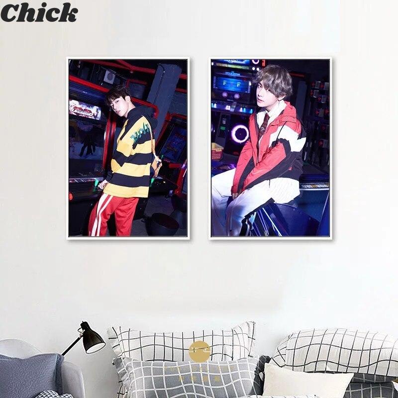 Kpop Bangtan Плакаты для мальчиков и принты корейский певец ремешок хобби настенное искусство холст живопись декоративная картина гостиная дома...