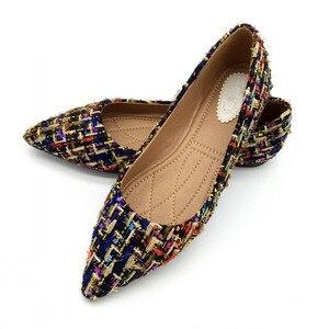Image 4 - Lente Herfst Vrouwen Ballet Flats Schoenen Voor Vrouw Casual Loafers Enkele Schoenen Dame Zachte Werk Draving Schoeisel Zapatos Mujer