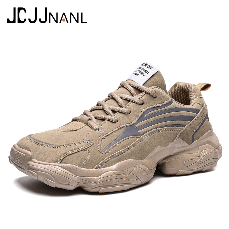 Cheap JCJJNANL Men's Casual Shoes Male Sneakers Breathable Lace-up Man Footwears Chaussure Homme Comfortable Outdoor Shoes