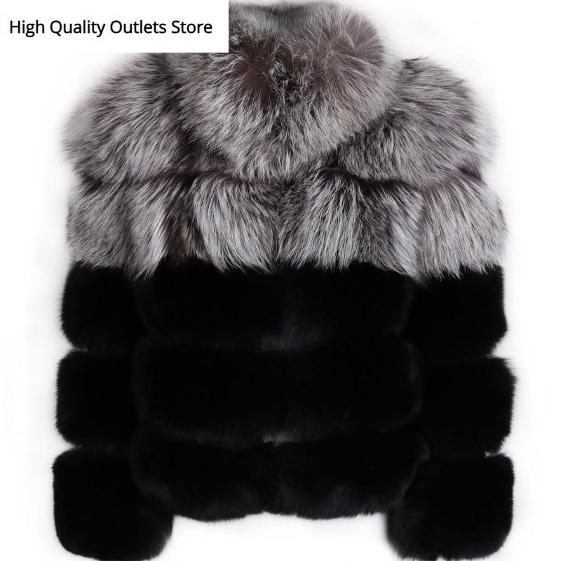 Ladies' Natural Fur Jacket Women Real Fur Jacket Quality Fox Fur Jacket
