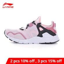 Li-ning mulheres mafia estilo de vida à moda sapatos conforto suave suporte luz forro li ning andando sapatos esportivos tênis aglq026