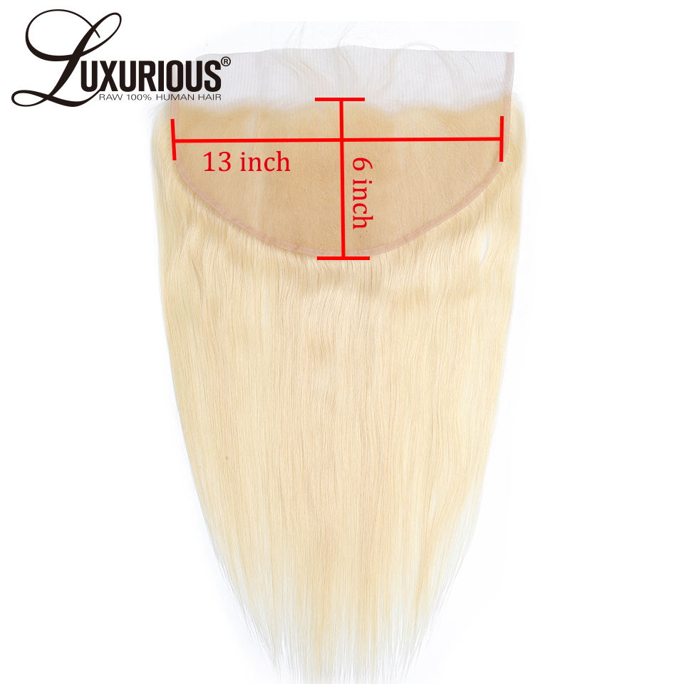 13x6 Lace Frontal 613 Blonde Color Brazilian Virgin Hair 6 Inch Deep Parting Human Hair Lace Frontal With Baby Hair