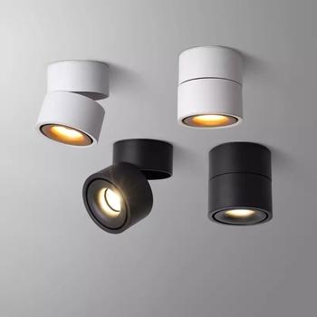 Przyciemniane światło LED oprawy montowane na powierzchni lampy sufitowe LED 7W 10W 15W składane i 360 ° obrotowe lampy punktowe W tle tanie i dobre opinie doxa CN (pochodzenie) ROHS Pokrętło 90-260 v LED downlight foyer 3years Z aluminium