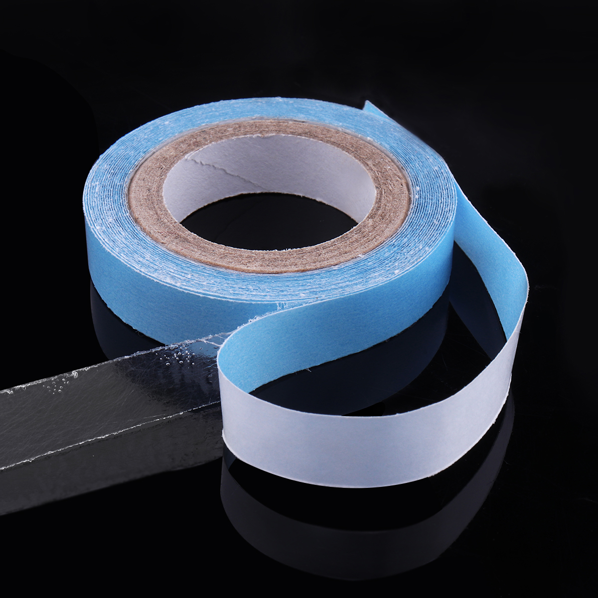 1 Roll 9mm*3Yards Strong Blue Tape Double-sided Adhesive Waterproof Tape For Tape Hair Extension/Lace Wig/Toupee Walker Tape