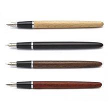 Jinhao – stylo à encre à pointe Fine en bois et acier inoxydable, pointe Fine, Vintage, A6787