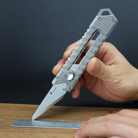 Titanium Alloy Knife Portable Outdoor EDC Multifunctional Tool Delicate Utility Knife Paper Cutter