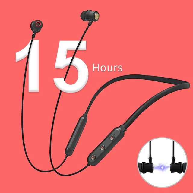 NILLKIN אמיתי אלחוטי Bluetooth אוזניות 5.0 neckband אוזניות מיקרופון מתכת מגנטי אוזניות אוזניות משחקי ריצה ספורט