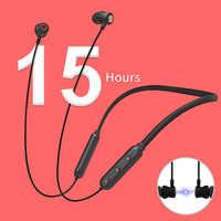 NILLKIN true wireless Bluetooth earphone 5.0 neckband headphone microphone Metal Magnetic Headset Earbuds Gaming Running sport